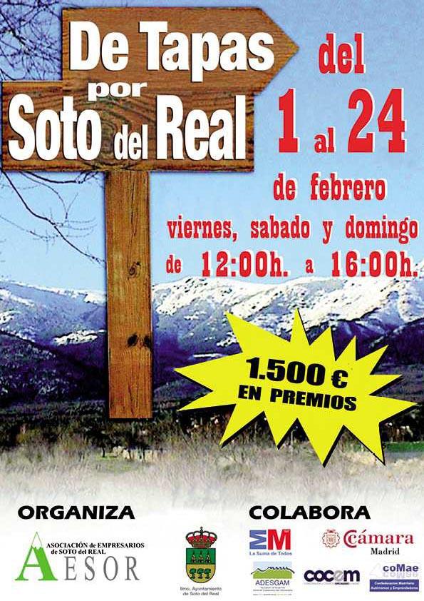 Cartel De Tapas por Soto del Real 2013