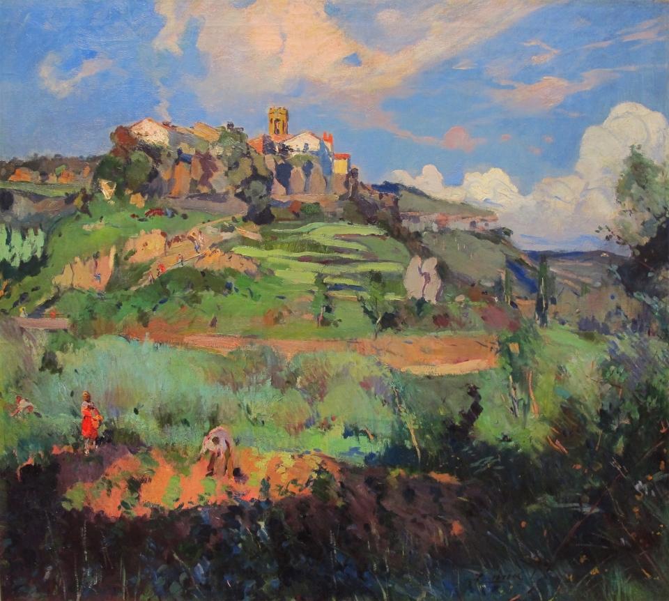 Joaquín Mir. Paisaje. Óleo sobre lienzo. 91x101.5 cm Jordi Pascual