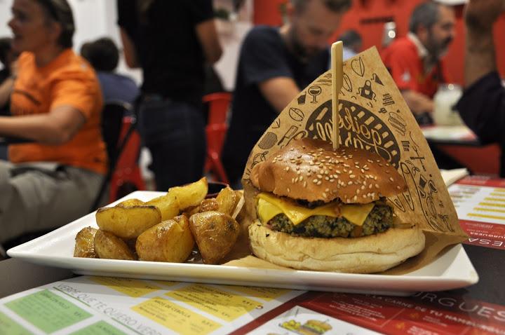 cuantas calorias tiene una hamburguesa de carne